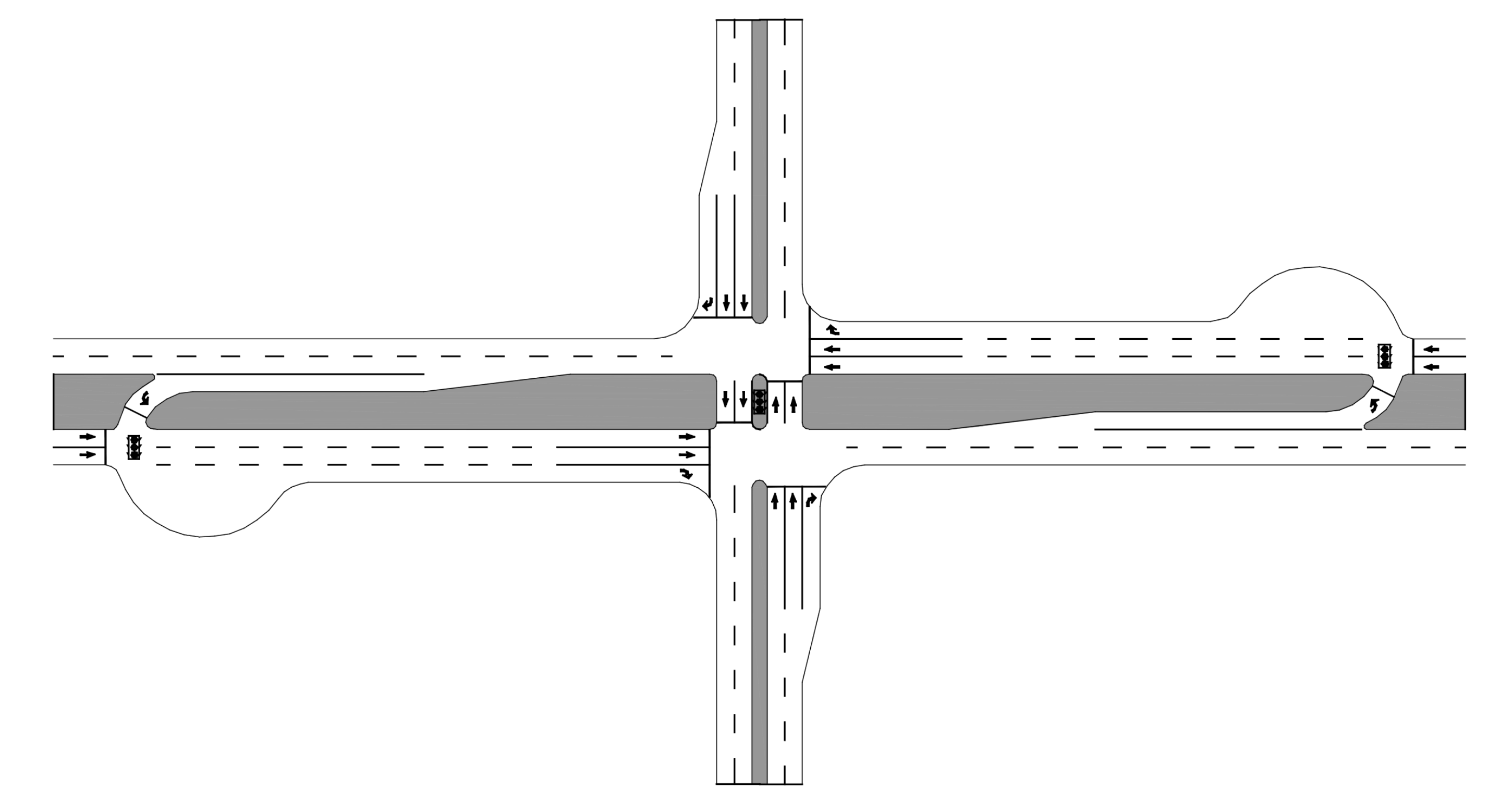 Layout of Michigan Left