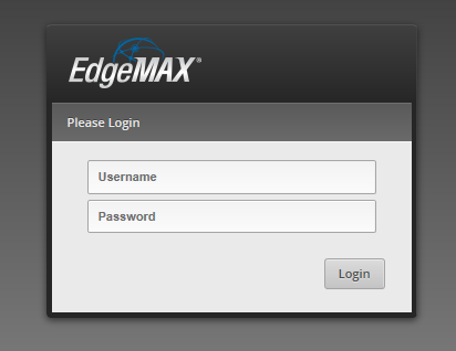 EdgeOS Login Page